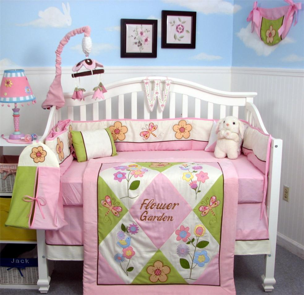 Soho Designs Mystic Garden Baby Crib Nursery Bedding Set 14 pcs included Diaper Bag with Changing Pad, Accessory Case & Bottle Case at Sears.com