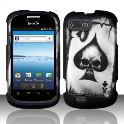 FOR ZTE VALET Z665C / ZTE FURY N850 HARD PHONE COVER CASE SPADE SKULL