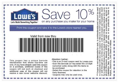Lowes Coupon Code 10 Off