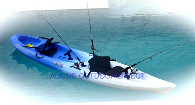 Sit on double fishing kayak ocean canoe boat 2 person blue for 2 person kayak fishing