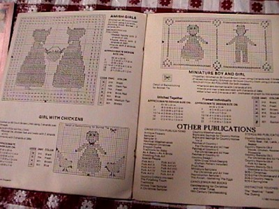 Amish Cross Stitch Book Sunbonnet Sue Sweetheart,Craft Patterns