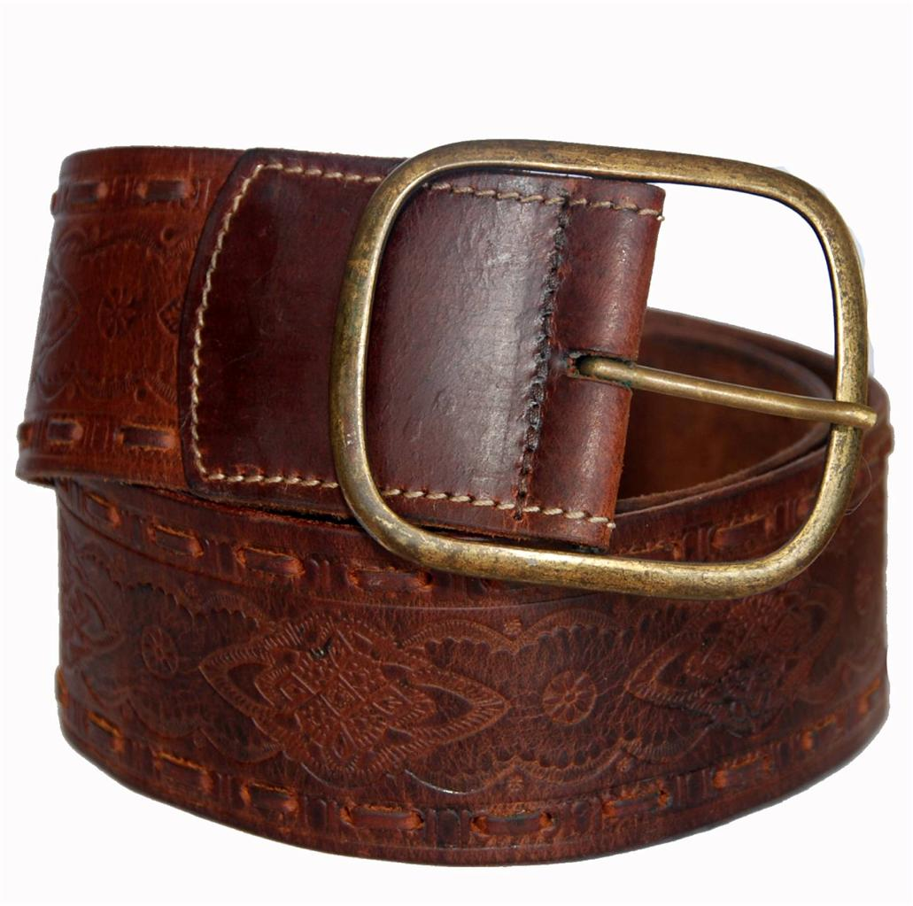 sportsgirl brown genuine leather wide sted belt for