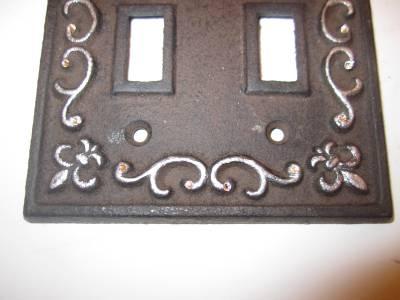 Rhinestone Fleur De Lis Light Switch Cover Plate Cast Iron