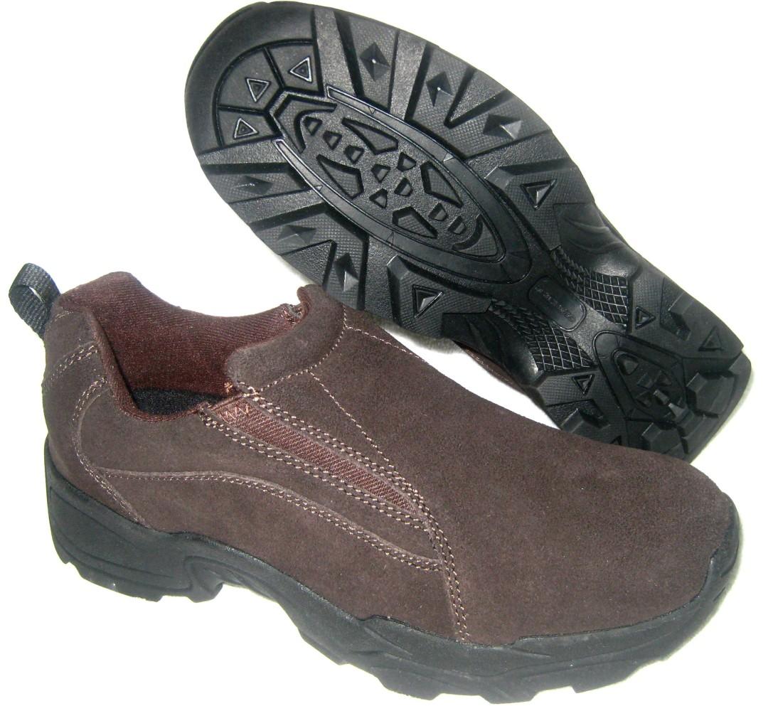 tredsafe easy slip resistant leather work trail shoes ebay