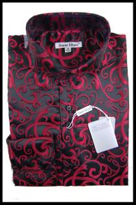 Men 39 s new daniel ellissa fashion jacquard paisley spread for Daniel ellissa men s dress shirts