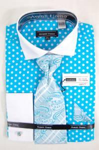 New mens daniel ellissa dress shirt french cuffs tie hanky for Daniel ellissa men s dress shirts