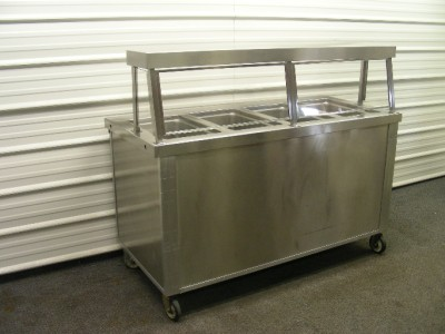 4 well electric steam tables buffet hot food serving sneeze guard ebay - Sneeze guard for steam table ...