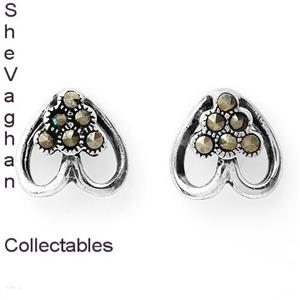 Sterling-Silver-Heart-Earrings-with-Marcasite