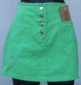 NEW-DENIM-SHORT-SKIRT-WOMENS-LADIES-GREEN-SIZE-8-MINI
