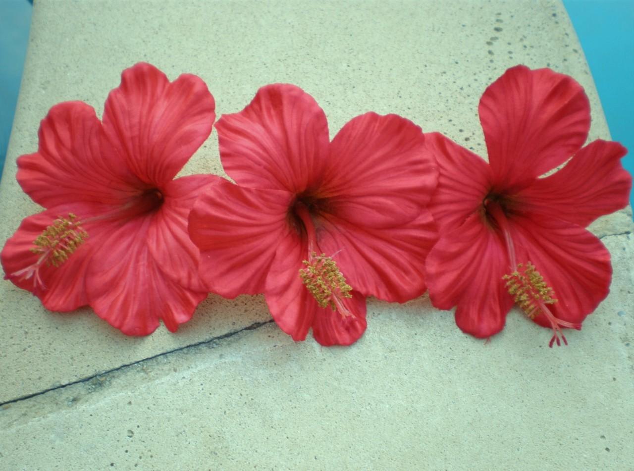 Fake Hibiscus Flowers Kalusteet Kotiin Koristelu