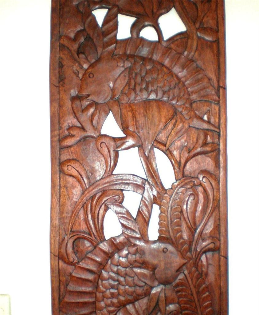 Carved wood wall art images - Wood panel artwork ...