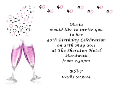 40th birthday invitations uk Invitationsweddorg