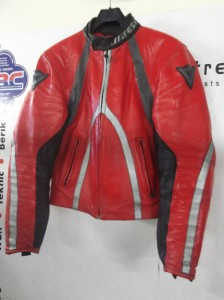 Dainese T Age Red Leather Motorcycle Jacket Eu 46 Uk 36