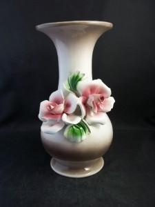 Made In Italy Capodimonte 3D Rose Design Flower Vase