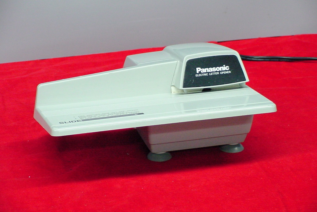 Panasonic electric automatic letter opener bh 752 ebay for Automatic electric letter opener