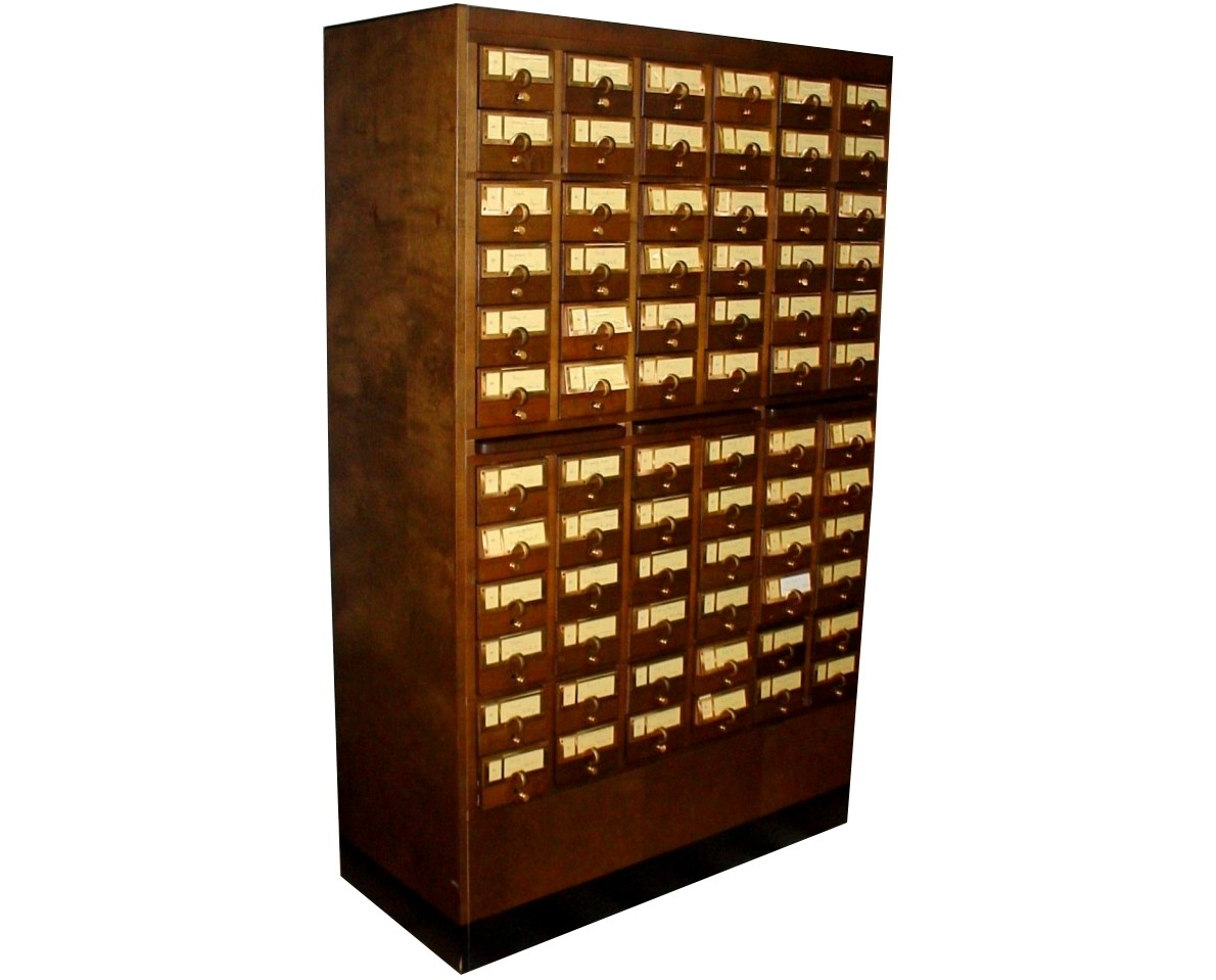 Index Card File Cabinet 72 Drawer Library