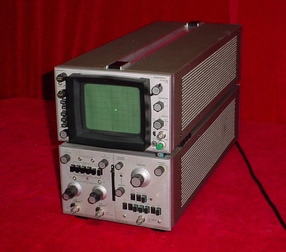 Amp On An Oscilloscope : Hp a oscilloscope dual channel vertical amplifier