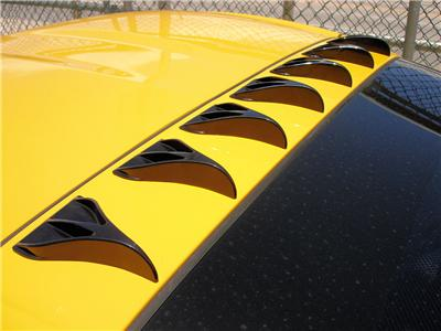 7 Pc Car Truck Suv Roof Vortex Generator Shark Fins Black