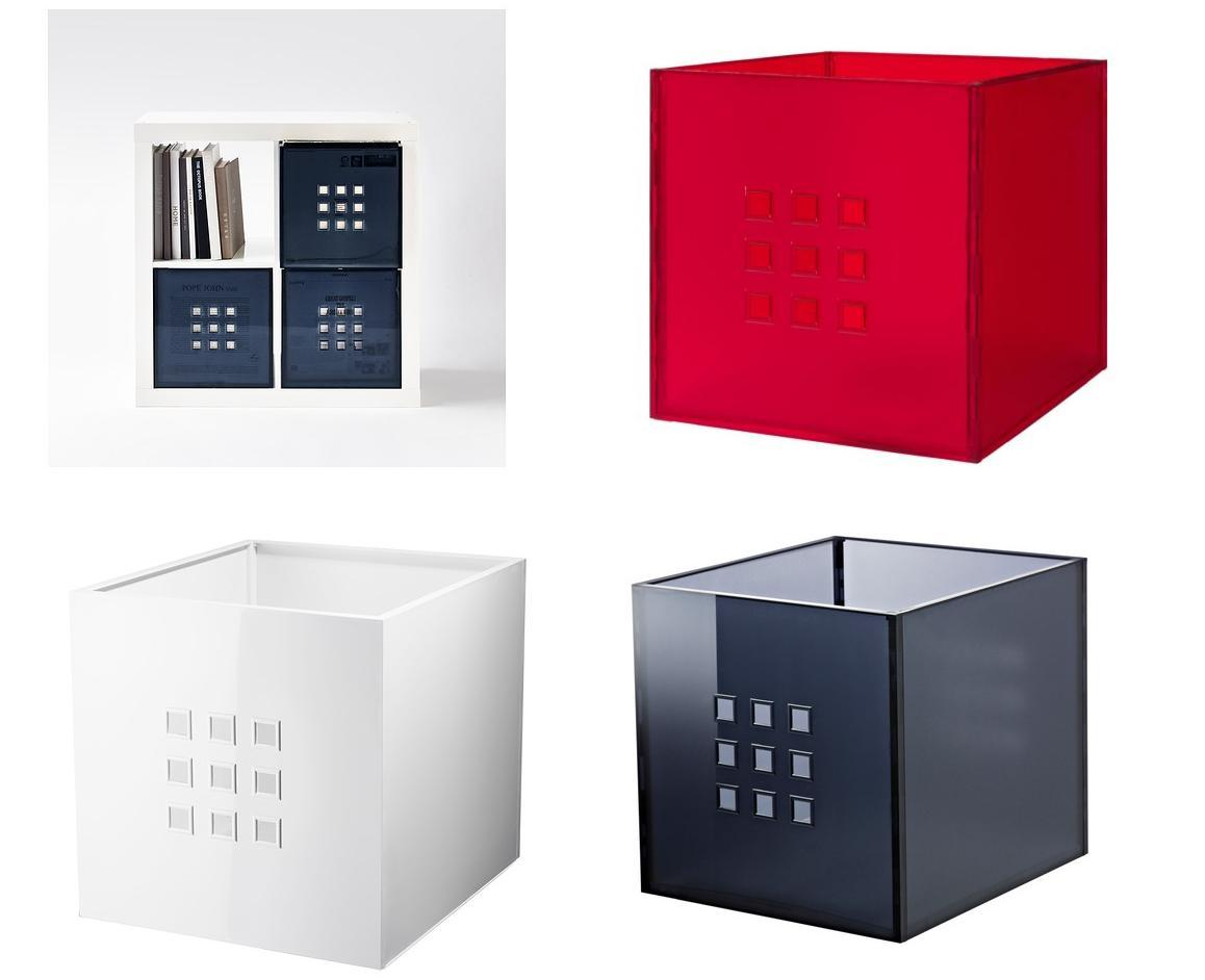 ikea lekman storage box organiser fits expedit shelving unit new ebay. Black Bedroom Furniture Sets. Home Design Ideas