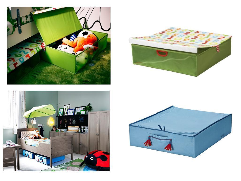Ikea Kids Childrens Under Bed Storage Box 2 Models