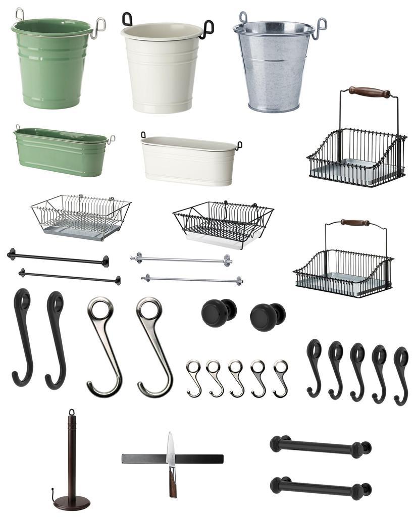 Ikea Fintorp Series Complete Kitchen Storage Rack
