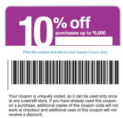 Lowes 10 coupon code
