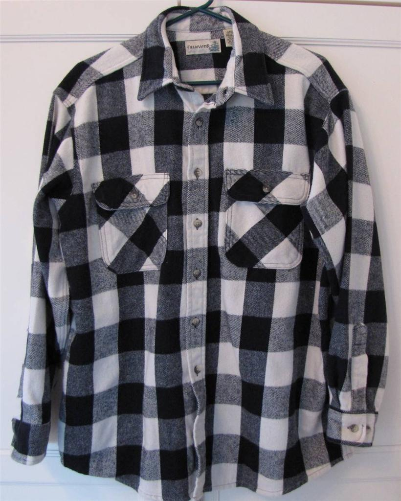 Men 39 S Fieldmaster Size Lg Buffalo Plaid Heavy Flannel