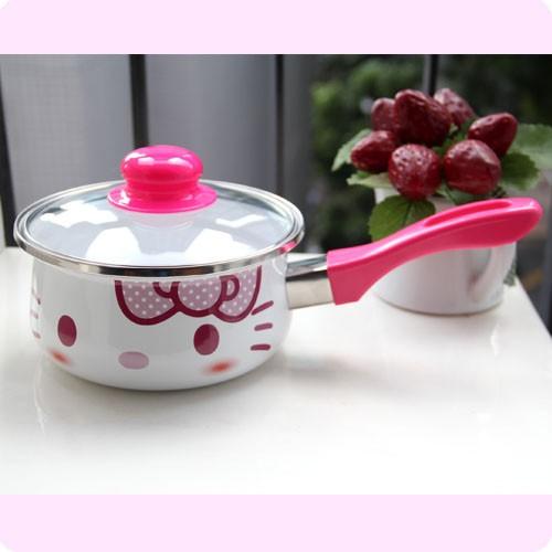 Neu Sanrio Hello Kitty Kochtopf mit Deckel So Cute C011F
