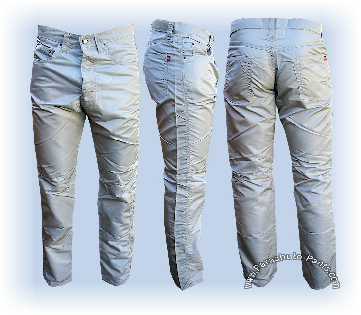 Nylon-Shiny-Panno-DOr-5-Button-Jeans-Many-Sizes-Colors