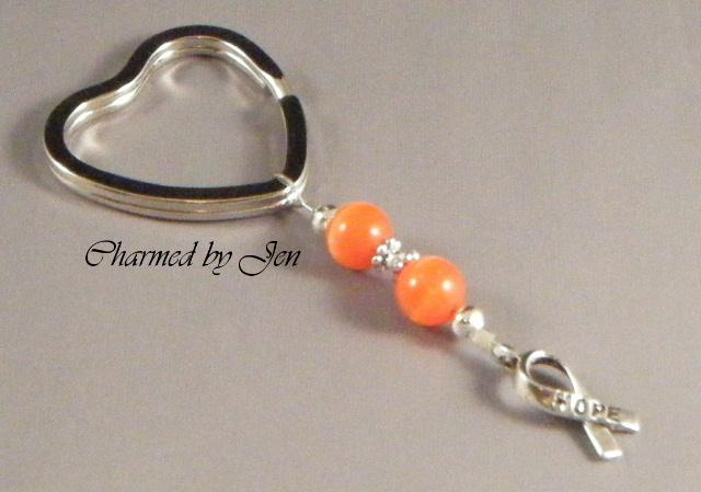 MS-MULTIPLE-SCLEROSIS-AWARENESS-Keychain-w-HOPE-Charm