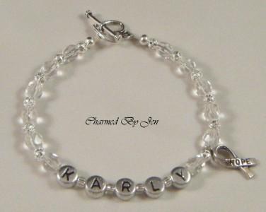 Charm Letter Beads Name Ribbon