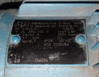Antriebstechnik 380 220v 1 1kw 2830rpm Ac Motor Vde 0530
