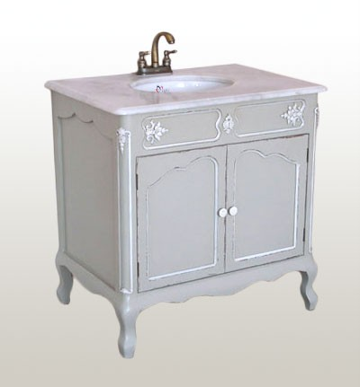 FRENCH GREY BATHROOM CLOAKROOM VANITY SINK UNIT