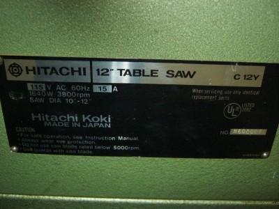 Hitachi Koki C 12y 12 Miter Table Saw W Adjustable Blade Heavy Duty Top
