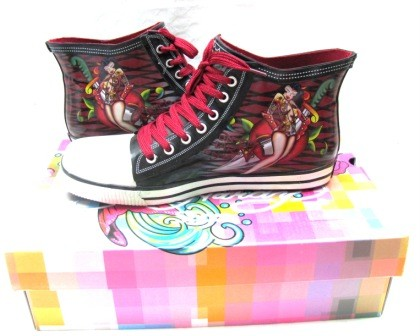 Ed-Hardy-Womens-Harrison-Black-High-Rise-Shoes-Size-9-US-BNIB-Fashion-Shoes