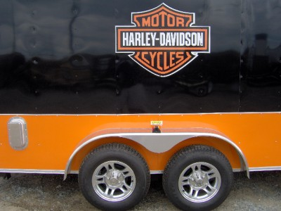 16 Foot Toy Hauler Trailer http://www.kootation.com/16-ft-enclosed-cargo-motorcycle-trailer-with-free-harley-davidson.html