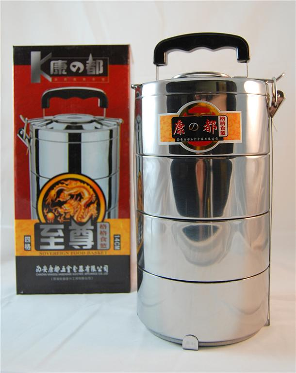 stainless steel 4 tier bento lunch box travel thermos tiffin insulated japanese ebay. Black Bedroom Furniture Sets. Home Design Ideas