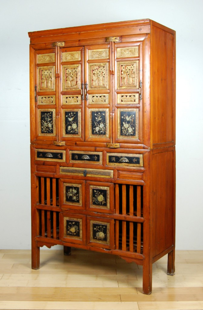 Antique Kitchen Pantry Cabinet Fujian Chinese Chest Ebay