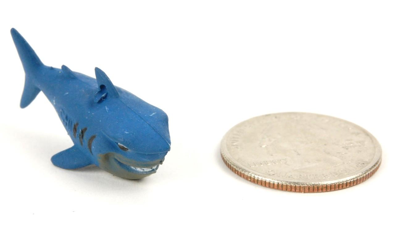 Shark Toy Set : Plastic shark lot craft charm animal set bruce toy party