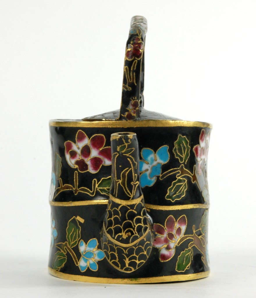 vintage chinese cloisonne teapot lid enamel home decor ebay. Black Bedroom Furniture Sets. Home Design Ideas
