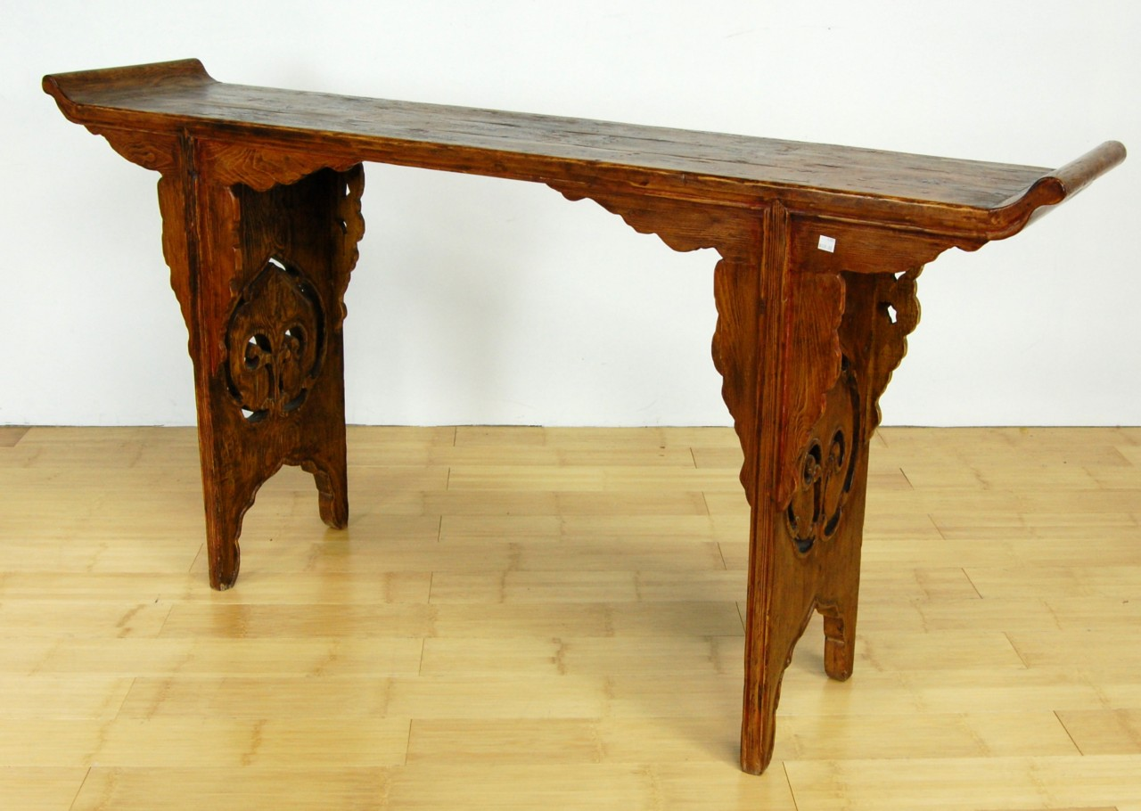 Antique wood entry table hand carved altar side stand ebay