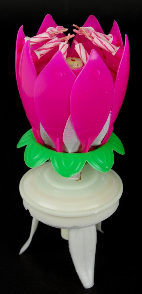Spinning Musical Birthday Candle Flower Party Gift Sparkler Cake