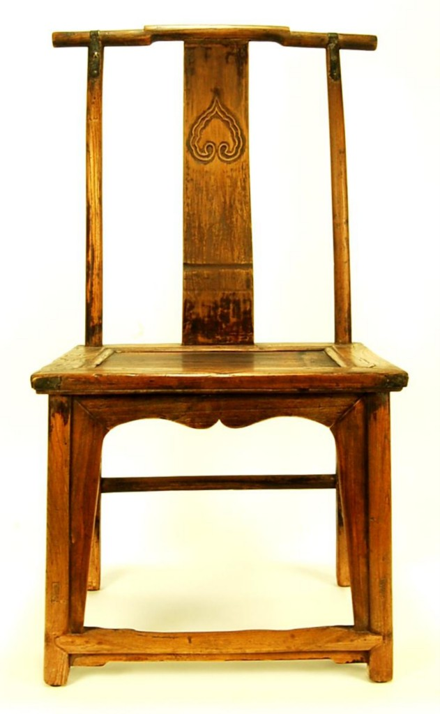 antique elm wood chair furniture decor formal