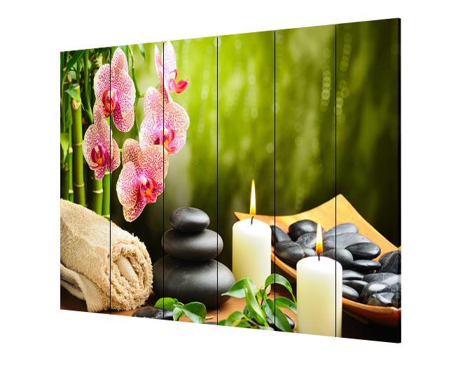 6-Panels-6ft-Tall-Canvas-Art-Double-Sided- - 6 Panels 6ft Tall Canvas Art Double Sided Folding Screen Room