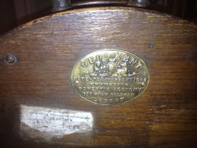 Victorian Geo Kent London Large Wooden Knife Sharpener Table Top