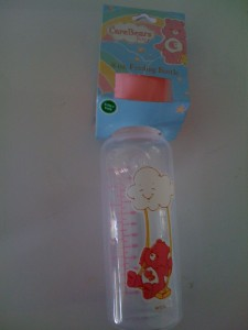 NEW Baby Girl 3 CARE BEAR Baby Bottles 8Oz Pink Rainbow SunShine And