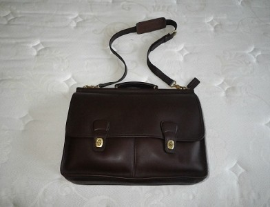 Coach Vintage Leather Business Duffle Travel Laptop