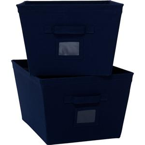 ... Mainstays 2 Pack All Purpose Home Storage Canvas Bins Large, Navy Blue