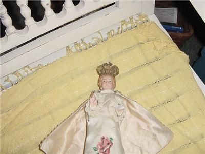 INFANT OF PRAGUE STATUE CHALKWARE DAMAGED RARE CLOTHING