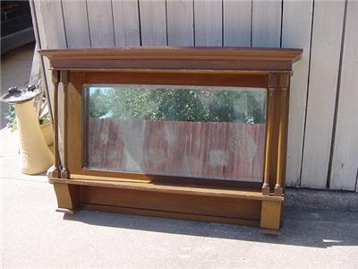 antique bar mirror shelf oak 55x46 5 shabby mirror. Black Bedroom Furniture Sets. Home Design Ideas